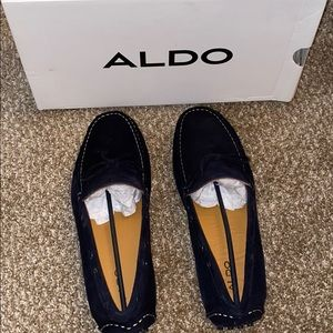 Men's suede loafers.